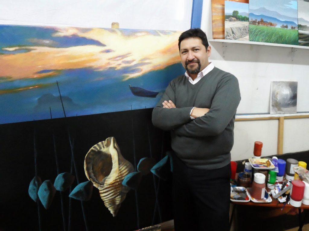 Profesor Mauricio Concha…Destacado Artista Nacional en Exposición