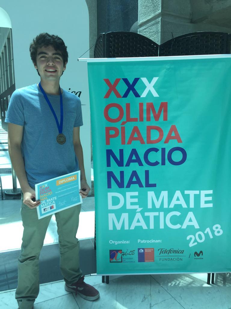 Medalla de Plata en Olimpiada Nacional de Matemáticas