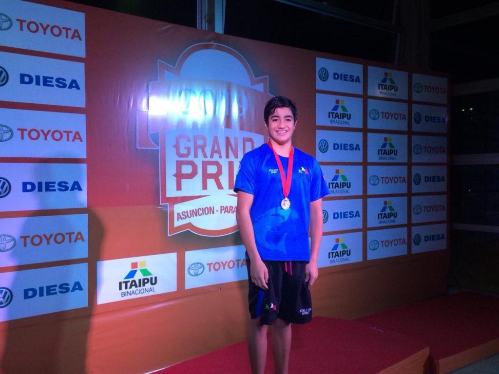 Carlos Díaz…Medalla de Plata en Grand Prix Sudamericano.