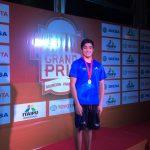 Carlos Díaz...Medalla de Plata en Grand Prix Sudamericano.