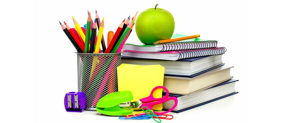 útiles y libros
