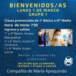 Bienvenidos Lunes 1 de marzo Grupo 1