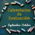 Calendarios de Evaluación