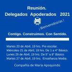 Reunión Delegados Apoderados 2021