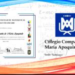 Premiación CMAT Online 2020.. Colegio obtiene Segundo Lugar.