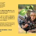 Pascua de Hna. María Inés Barríos odn. que ya descansa en las manos del Padre
